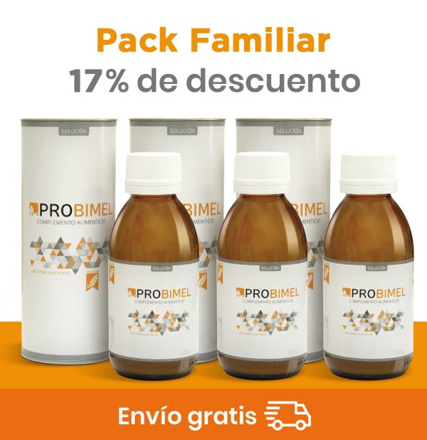 Probimel. Pack familiar de probióticos naturales.
