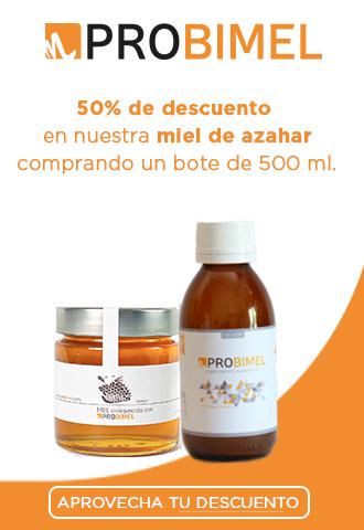 50% en nuestra miel de azahar